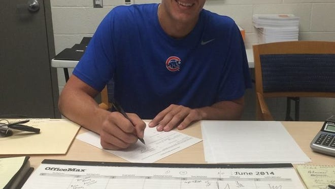 Former NFC pitcher Carson Sands signed with the Cubs earlier this week.