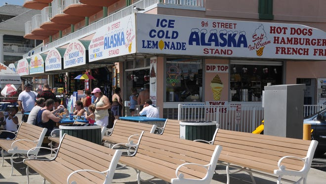 The Alaska Stand, located on Ninth Street at the Boardwalk in Ocean City, is shown.