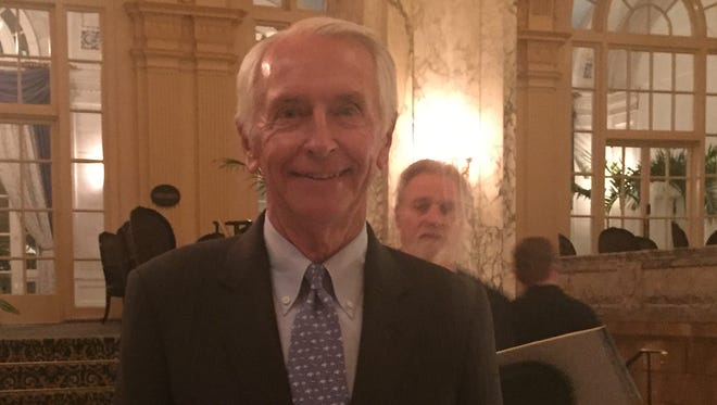 Former Kentucky Governor Steve Beshear spoke before Tennessee Democrats at the Hermitage Hotel Oct. 19, 2016.