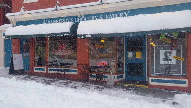 Cranberry's Grocery and Eatery in the snow on Wednesday, March 21, 2018.