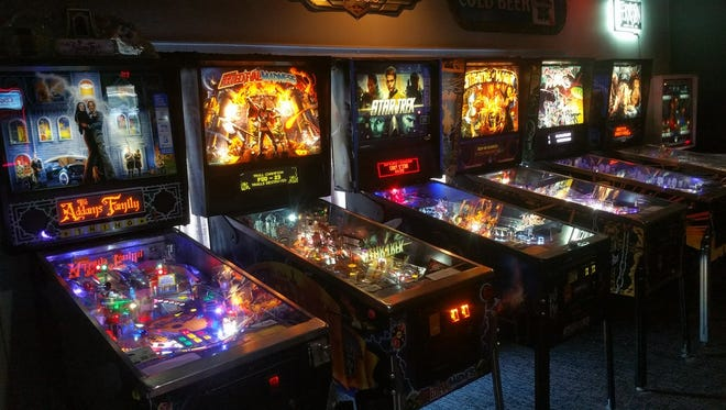 Pinball machines at The Bonus Round