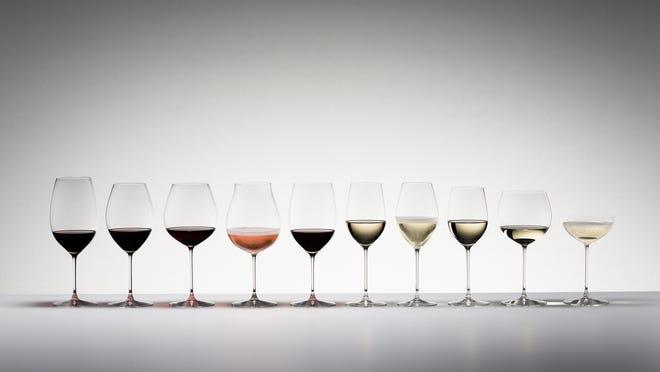 The Riedel Veritas series of wine glasses.