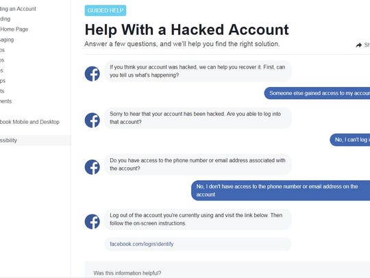 The Process To Try And Regain Access Of A Hacked Facebook