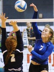Ladywood's Madison Benoit (right) goes on the attack