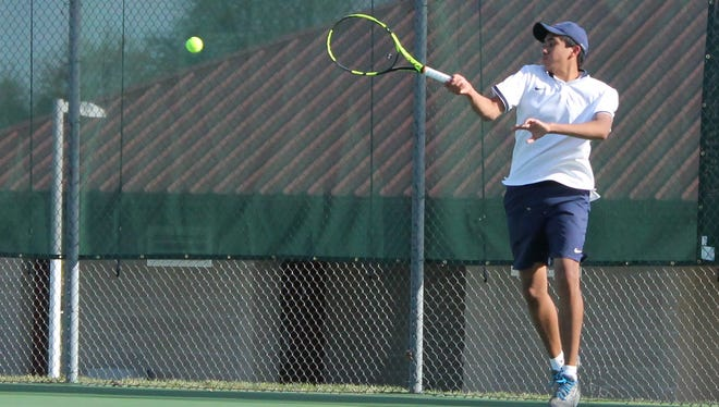 Springfield Catholic junior Jason Nayar took second place at the Springfield Invitational Wednesday, April 12, 2017 at Cooper Tennis Complex.