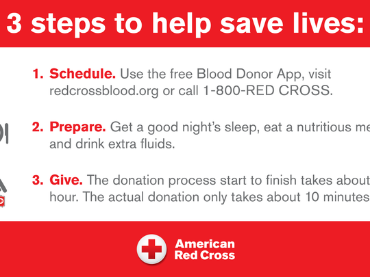 The American Red Cross urges those who have never given blood before — as well as those who haven't given recently — to make an appointment to give blood or platelets now and help sustain a sufficient community blood supply this summer.