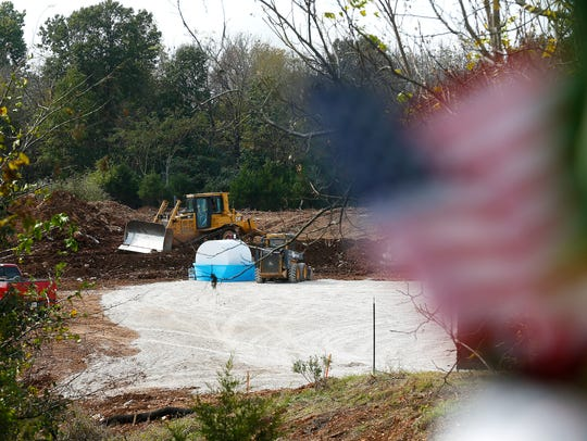 Construction goes on in the future site of the Gene