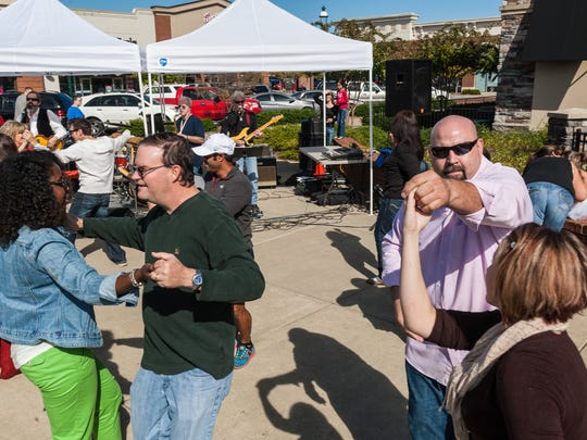 Dancing was one of several activities offered Sunday at the Pumpkin Patch Festival in Hendersonville.