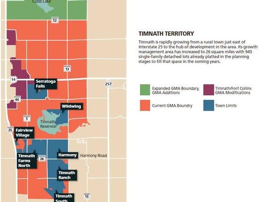 Timnath Territory Map