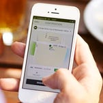 Customers can track their Uber drivers on their smartphone.