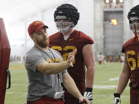 Iowa State offensive coordinator and offensive line