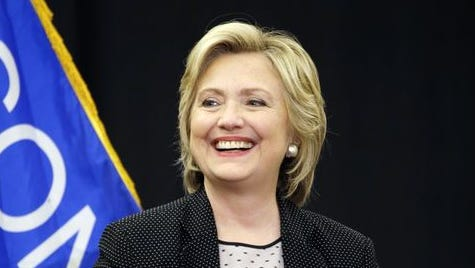 Democratic presidential candidate Hillary Rodham Clinton speaks at the University of Wisconsin-Milwaukee, Thursday, Sept. 10, 2015, in Milwaukee.