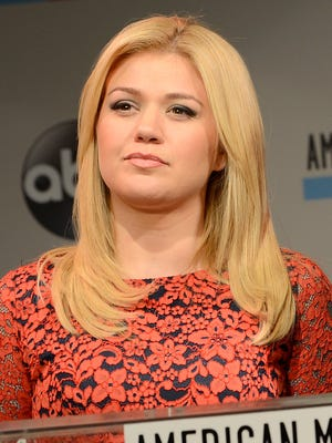 Kelly Clarkson speaks onstage at the 2013 American Music Awards Nominations Press Conference at B.B. King Blues Club & Grill on Oct. 10 in New York.