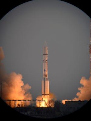 ExoMars 2016 lifted off on a Proton-M rocket from Baikonur, Kazakhstan.