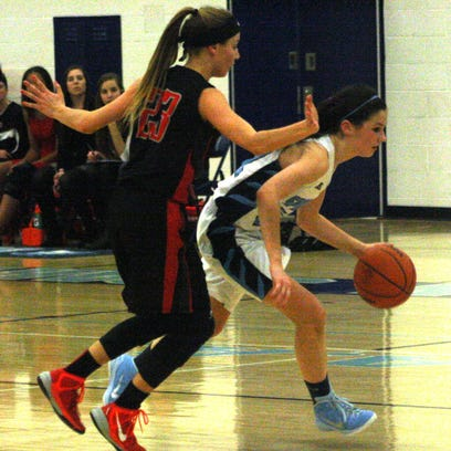 Stevenson's Grace Lamerson  and her teammates played suffocating defense Wednesday night against Churchill.