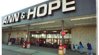 The Ann & Hope store in Seekonk in the chain's heyday.
