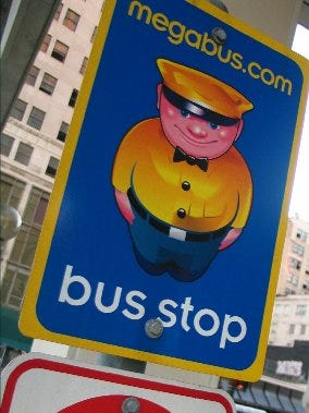 Megabus stop
