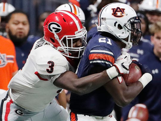 Most mock drafts don't have Georgia linebacker Roquan