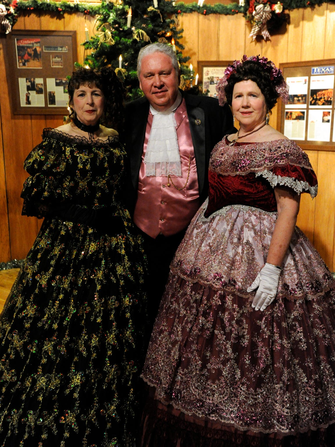 Marie Williams, Grady Blount and Lynda Hardeman attended the 2015 Texas Cowboys' Christmas Ball in period costume from the mid-1880s.
