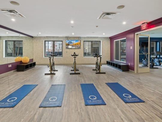 The Quincy has exercise rooms with several state-of-the-art machines for working out, as well as computerized routines for yoga and other disciplines.