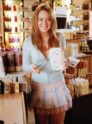 Lindsay Lohan as Cady Heron in a scene from 'Mean Girls,' which celebrates its 10th anniversary this year.