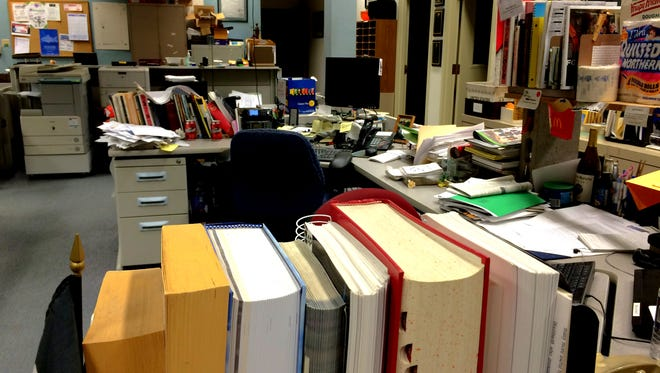 It was a quiet day in the office on Dec. 24.