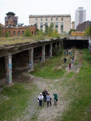File photo: The entry to the abandoned subway along