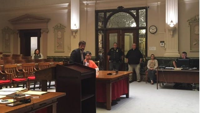 Kyle Bowen, 30, of Galion, was sentenced to 20 years in prison Tuesday in Crawford County Common Pleas Court on two counts of felony sexual abuse and one count of rape of two juvenile girls. With Bowen is his attorney James Mayer III.