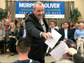 Democratic Gubernatorial candidate Phil Murphy collects