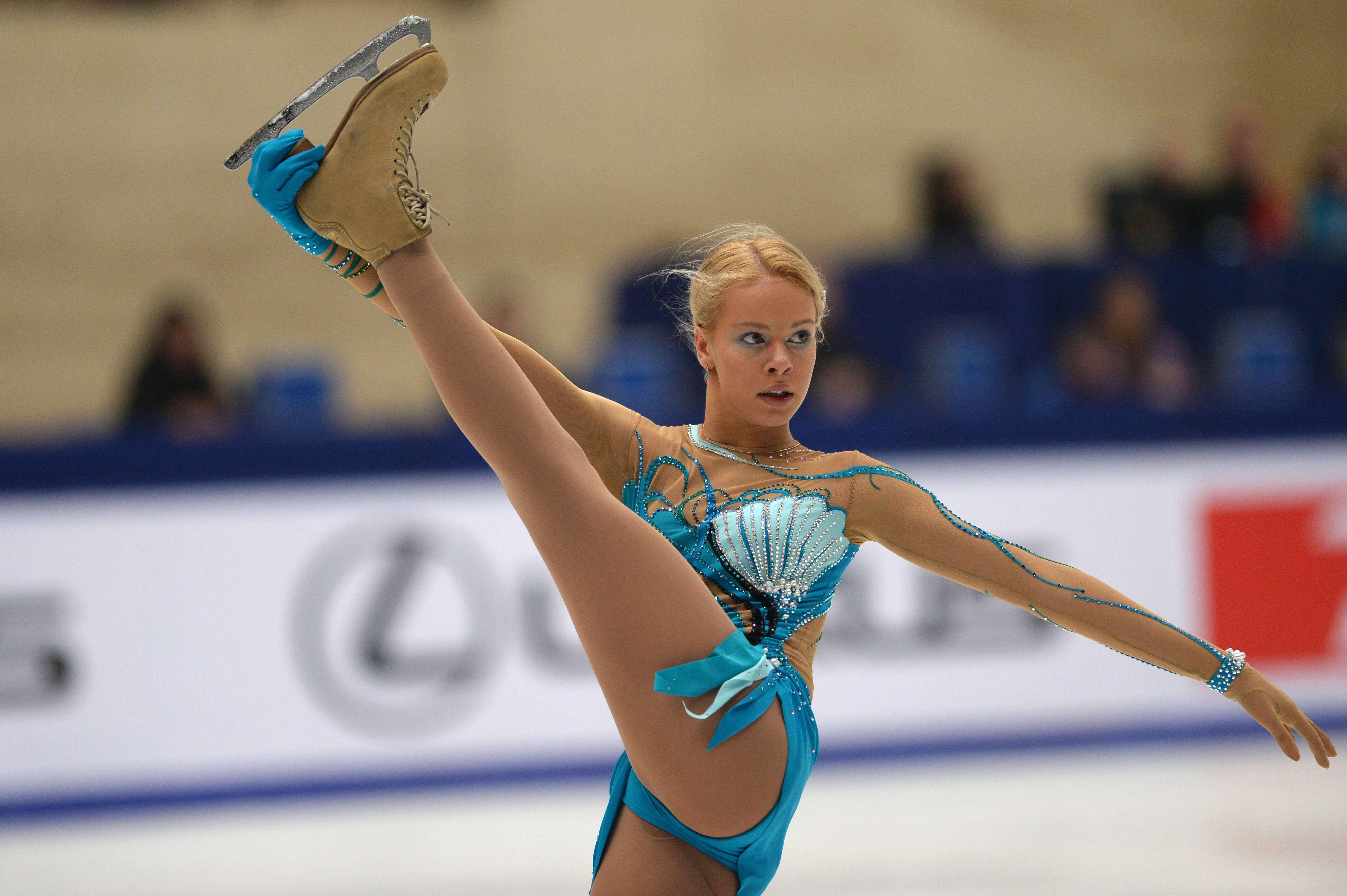 Teen ice skater