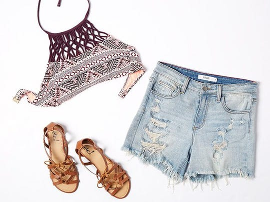 A collection of clothes available at Rue21