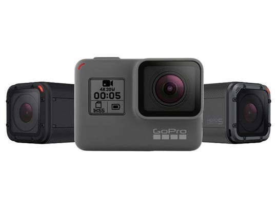 The GoPro Hero 5 line-up.