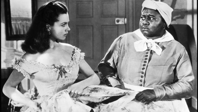 """Vivien Leigh and Hattie McDaniel in a scene from """"Gone With The Wind."""""""