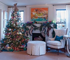 The Redmon house is bustling with imagination and creativity at all times of the year, but there is something rather special about their home that dazzles during the holidays.