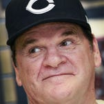 Former Cincinnati Reds player Pete Rose, baseball's all-time hits leader, signed autographs for two hours Tuesday night, July 26, 2011, at the Collectors Den in Castleton Square Mall in Indianapolis. It was Rose's first autograph signing appearance in Indianapolis in more than 15 years. Charlie Nye / The Star.