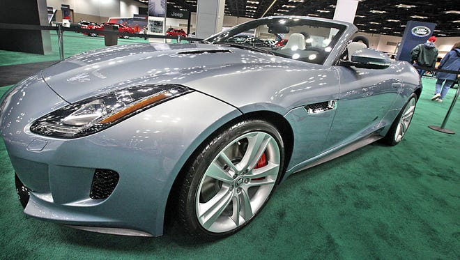 Jaguar brought its F-type roadster to the Indy Auto Show in December 2012.