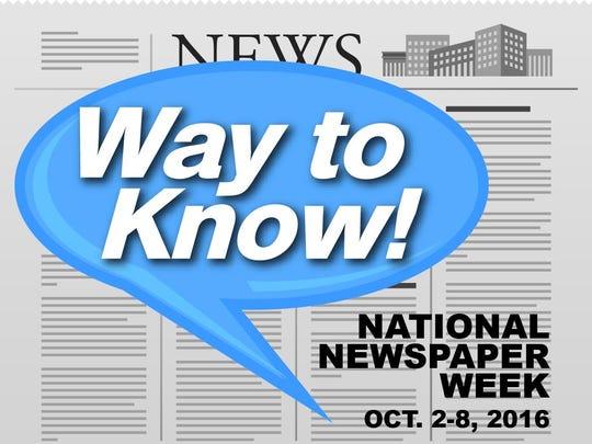 National Newspaper Week is Oct. 2-8