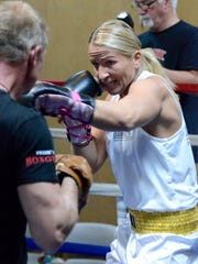 Undefeated German boxer Nikki Adler trains for her