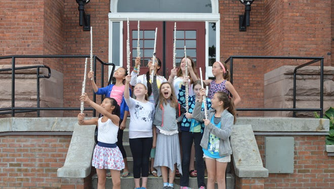 Campers at a past summer's Summer at Hochstein program at the Hochstein School of Music & Dance in Rochester.
