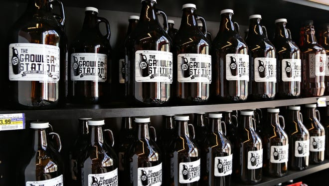 The Growler Station inside the Albertson's Supermarket in Phoenix, offers beer lovers a chance to take home draft beer from one of eight taps.