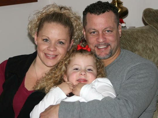 Jessica Gordon with ex-husband Larry Gordon and their