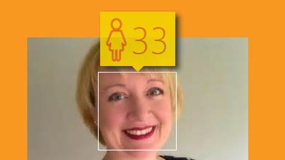 The How Old robot on Microsoft thinks the person in