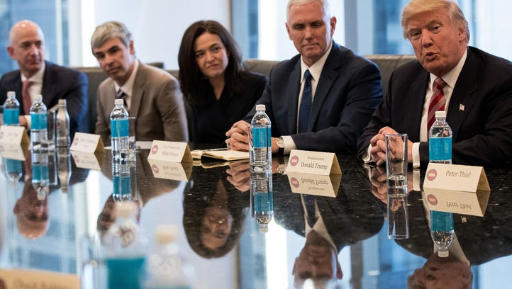 See inside the tech leaders' summit at Trump Tower