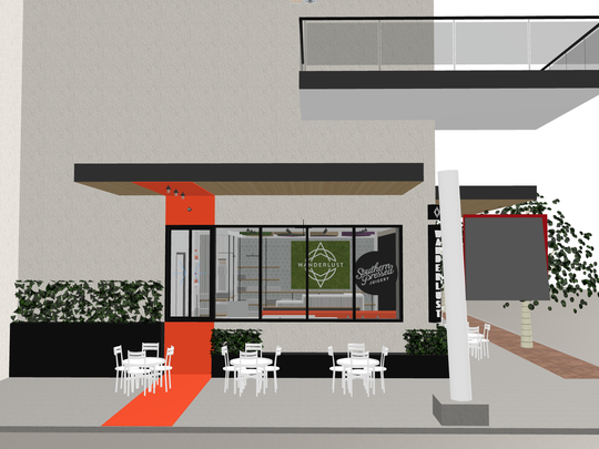 A rendering of Southern Pressed Juicery's Austin, Texas
