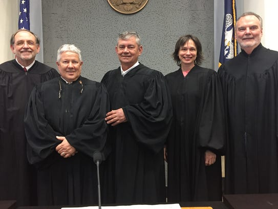 From left: U.S. Western District Chief Judge Maury