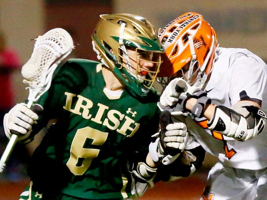 York Catholic vs Central York during lacrosse action at Central York High School in Springettsbury Township, Monday, April 10, 2017. Dawn J. Sagert photo