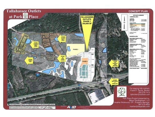 Tallahassee Outlet at Park Place concept plan.