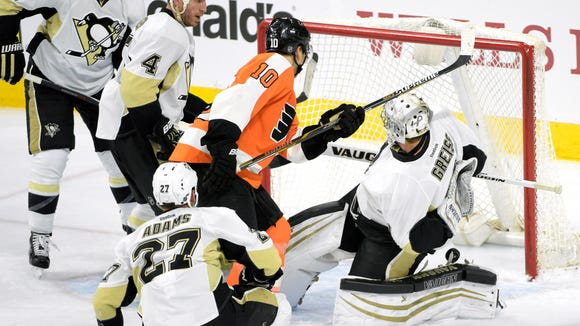 The Flyers beat Pittsburgh in overtime the last time