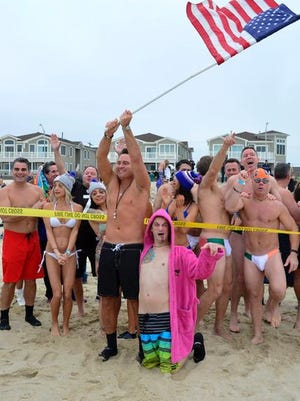 The ninth annual LADACIN Plunge was held at Main Beach in Manasquan on Saturday.