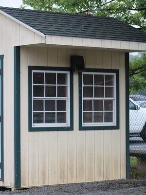 The ticket booth at Keyser High School's Alumn Field.